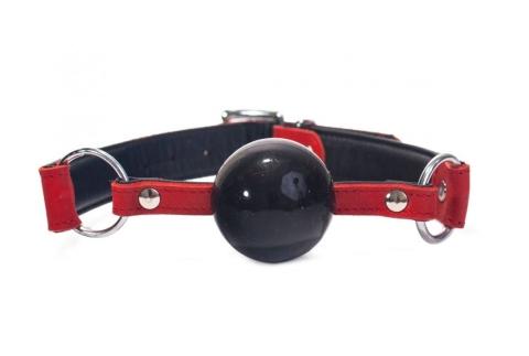 Silicone Ball Gag Nubuck Leather