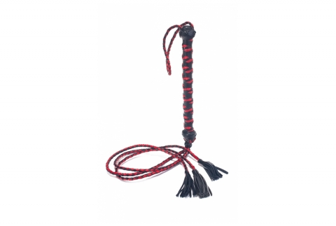 Three Tail Tassel Flogger - Bőr Korbács